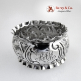 .English Sterling Silver Repousse Napkin Ring Birmingham 1904