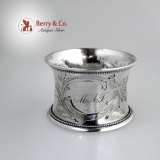 .Coin Silver Napkin Ring 1860