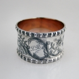 .German 800 Silver Napkin Ring 1898