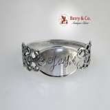 . Viking Rose Napkin Ring Marthinsen 830 Silver 1950