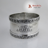 .English Sterling Silver Greek Key Napkin Ring 1919