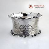 .German 800 Silver Napkin Ring 1890