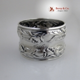 .Lily Napkin Ring Sterling Silver Julia 1900