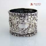 .Stieff Rose Napkin Ring Large Full Design Sterling Silver 1900
