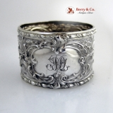 .German 800 Silver Repousse napkin Ring 1890