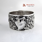 .Floral Repousse Sterling Silver Napkin Ring Unger Bros