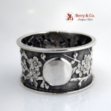 .Chinese Export Sterling Silver Napkin Ring 1900