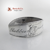 .Baby Napkin Ring Norwegian Silver 1963