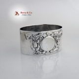 .Scroll Belleflower Napkin Ring Sterling Silver London 1904