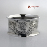 .Sterling Silver Floral Engraved Napkin Ring Towle 1916