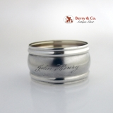 .Aesthetic John Henry Napkin Ring Sterling Silver 1880