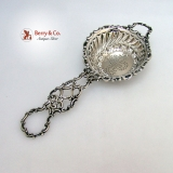 .Tea Strainer Baroque Scroll Gorham 1890 Sterling Silver