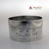 .Christmas Inscription Sterling Silver Napkin Ring
