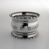 .M C Boutell Napkin Ring Sterling Silver 1903