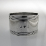 .Tiffany Art Deco Napkin Ring Sterling Silver JFL Monogram 1935