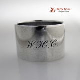 .Tiffany Napkin Ring Huge Heavy Sterling Silver 1910 WHC Monogram