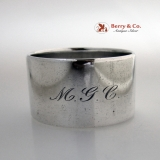 .Tiffany Napkin Ring Huge Heavy Sterling Silver 1910 MGC Monogram