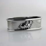 .Bunny Rabbit Napkin Ring Sterling Silver Jay Jr 1940