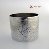 .Hammered Napkin Ring Sterling Silver South American Rodolfo