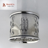 .Open Work Sterling Silver Napkin Ring 1900 W Monogram