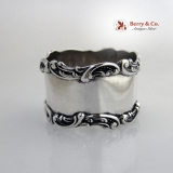 .Baroque Scroll Napkin Ring No Monograms Watson Sterling Silver 1900