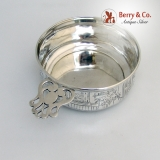 .Peter Rabbit Porringer Sterling Silver Webster 1940 No Monogram