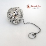 .Tea Ball Repousse Gorham 439 Sterling Silver 1880