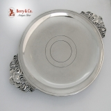 .Art Deco Floral Salver Tiffany 1944 Sterling Silver no Monogram