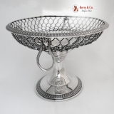 .Fruit Basket William Gale Jr. Sterling Silver 1866 Wire Work