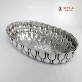 .Aesthetic Sweet Meat Dish Floral Whiting Sterling Silver 1880
