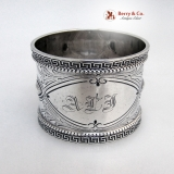 .Greek Key Sterling Silver Napkin Ring Wood And Hughes 1880