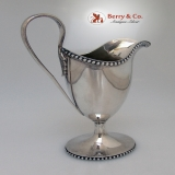 .Cream Pitcher Coin Silver Beaded Bailey and Co. 1865