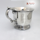 .William Adams Coin Silver Mug 1840 My Husband
