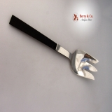 .Town and Country Serving Fork Allan Adler Sterling Silver Ebony 1950