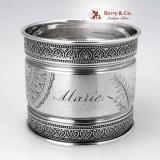 .Palmette Aesthetic Napkin Ring Gorham 1880 Sterling Silver Marie