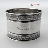 .Palmette Aesthetic Napkin Ring Gorham 1878 Sterling Silver Fannie