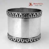 .Palmette Napkin Ring Roger Williams Sterling Silver 1900 No Monogram