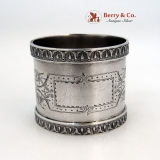 .Aesthetic Napkin Ring Belleflowers Coin Silver 1875 No Monogram