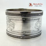 .Aesthetic Ivy Engraved Napkin Ring Coin Silver 1875 No Monograms