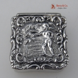 .Cupid Pill Box Sterling Silver London 1994 No Monogram