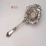 .Les Cinq Fleur Tea Strainer Reed and Barton Sterling SIlver 1900 No Monograms