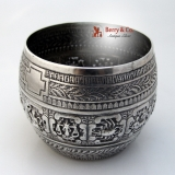 .Zodiac Bowl English Sterling Silver John Lias 1874 London
