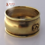 .Gold Nugget Sterling Silver Napkin Ring Birmingham 1930