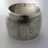 .Barrel Shaped French Sterling Silver Napkin Ring