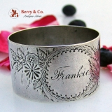 .Coin Silver Napkin Ring Frankie 1880