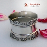 .Louvre Napkin Ring Floral Scroll Open Work Wallace Sterling Silver 1893 No Monogram