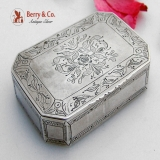.Continental Silver Snuff Box Late 18th Early 19th Century