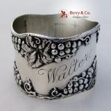 .Grape Decoration Napkin Ring Sterling Silver Shreve And Co 1900