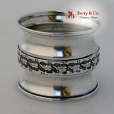 .Leaf Boarder Sterling Silver Napkin Ring 1920