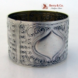 .German Art Nouveau 800 Silver Napkin Ring 1890